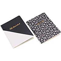 A6 Willow & Rose Little Black Book A6 Set of 2 Black & Floral Notebooks Journal