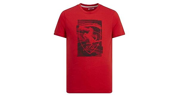 Branded Sports Merchandising B V Rotes Herren T Shirt Mit F1 Schild Motiv Scuderia Ferrari Rot X Large Bekleidung