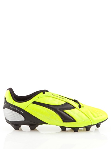 DIADORA SCARPA CALCIO DD-ELEVEN R MG14 PELLE (YELLOW/BLACK, 44-5)