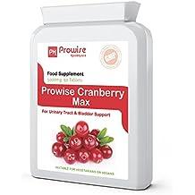 Prowise Cranberry 5000mg 90 comprimés - Supplément quotidien haute résistance - Royaume-Uni fabriqué à GMP Qualité garantie - Convient aux végétariens et aux végétaliens