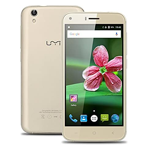 UMIDIGI London 5.0''Zoll 3G Smartphone Android 6.0 Dual SIM Quad Core IPS HD Screen 1 GB RAM + 8 GB ROM 8.0MP + 2MP Dual Kamera Handy ohne Vertrag GPS WIFI Smart Wake