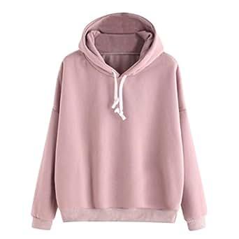Solide Kapuzenpullover Mantel Oberbekleidung Sweatshirt Baumwollmischungen Neu