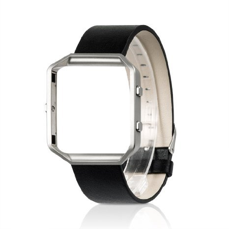 for-fitbit-blaze-band-wearlizer-watch-band-replacement-with-metal-frame-genuine-leather-strap-for-fi