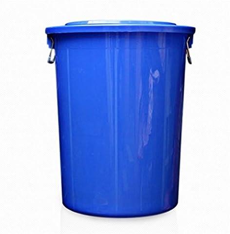GAO® Grandes poubelles rondes rondes poubelle en plastique bidon d'eau 40L 60L couleur blanc bleu blue l