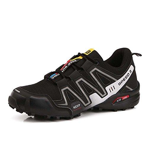 Zapatos para Caminar Ligeros Hombres Al Aire Calzado Deportivo (EU 42, Black-4)