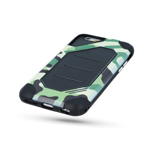 "PANZER DEFENDER Moro Camouflage Für Apple iPhone 7 Plus 5.5"" iPhone 7 5.5"" Schutzhülle Armee Militär / Army Case Etui Cover Hülle Flip (grün / green) grün / green"