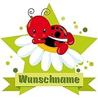 Marienkäfer Aufkleber Wandtattoo Tattoo Wandsticker Baby Türaufkleber Wandauf...
