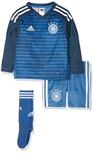 adidas Kinder DFB Torwart Mini-Heimausrüstungt WM 2022 Trikot & Shorts, Trace Royal/Sub Blue/White, 98 (Adidas Kinder Trikot)