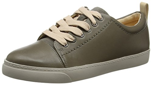 Clarks Glove Echo, Zapatillas para Mujer, Gris (Grey Leather), 37.5 EU