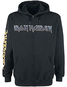 Iron Maiden Dark Ink Powerslave Sudadera Capucha con Cremallera Negro