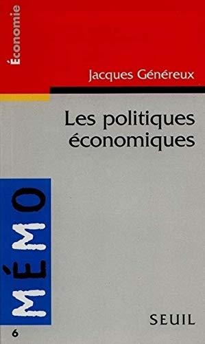 Mémento des politiques économiques par Jacques Genereux