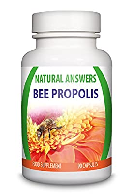 Bee Propolis by Natural Answers, Superior Strength Bee Propolis 5:1 2000mg, Help Guard against Cold and Flu - 90 Capsules, 1 + Month Supply, UK Brand by Natural Answers