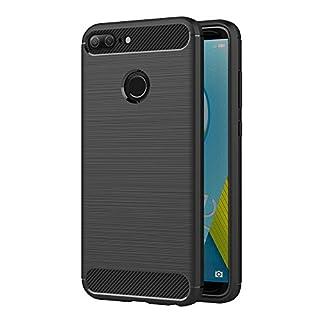 AICEK Honor 9 Lite Hülle, Schwarz Silikon Handyhülle für Huawei Honor 9 Lite Schutzhülle Karbon Optik Soft Case (5,65 Zoll)