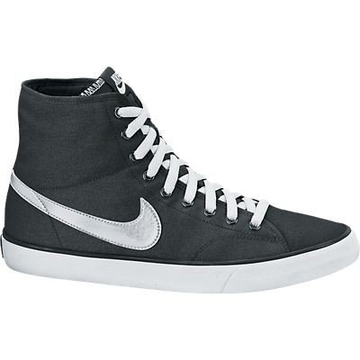 Nike Primo Court Mid Sneakers Stivaletto in Tela Uomo Black White (Black White, 41)