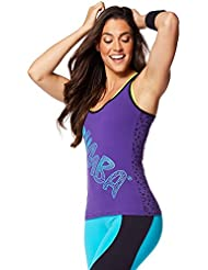 Zumba Fitness Comic Soutien-gorge à bretelle Femme Galaxy FR : M (Taille Fabricant : M)