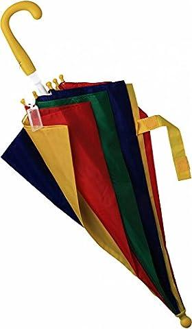 Schirm Regenschirm Kinderschirm Kinderregenschirm Kinder bunt rot blau grün gelb