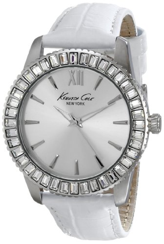 Kenneth Cole KC2849 39mm Stainless Steel Case White Calfskin Mineral Women's Watch
