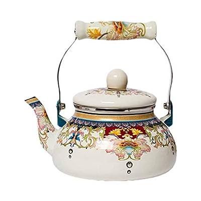 2.4L Épais Pot Émaillé Bouilloire Bouilloire Pichet Médecine Chinoise Pot Cuisinière À Induction Gaz UniversalHome Bouilloire En Porcelaine 2.4L