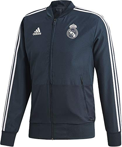 adidas Herren Real Madrid Presentation Jacket Trainingsjacke, tech Onix/Black/Core White, M