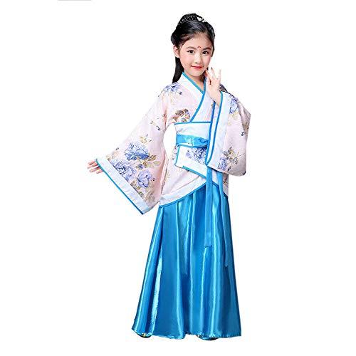 Xinvivion Chinesischer Stil Hanfu Kleid - Uralt Traditionell Kleidung Elegant Retro Tang Anzug Performance Kostüm