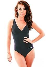 15722b95fc3f Aqua Speed Grace Badeanzug Einteiler Damen (36-44 Herausnehmbare Cups  Leicht Elastisch Dehnbar UV