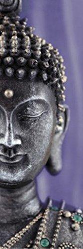 1art1 74088 Buddhismus - Buddha Statue Violett, 1-Teilig Fototapete Poster-Tapete 250 x 79 cm