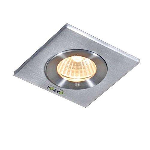 QAZQA Moderne Spot encastré/encastrable salle de bain Xena carré Aluminium Carré Compatible pour LED GU10 Max. 1 x 50 Watt/Extérieur/Jardin/Luminaire/Lumiere/Éclairage/intérieur/Chambr