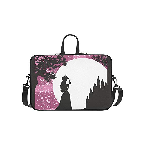Kostüm Kiss Weibliche - Schöne Dame Kisses A Frog Pattern Aktentasche Laptoptasche Messenger Schultertasche Crossbody Handtasche für Geschäftsreisen