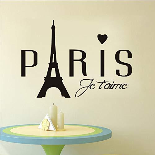 Lglays Adesivi Murali Della Torre Eiffel Moderna Di Parigi Adesivi Decorativi Murali Della Parete Del Salone Soggiorno Adesivo Popolare Home Decor Rimovibile 83 * 58Cm