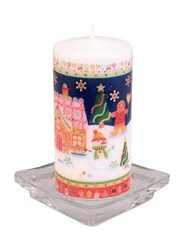 SEBNINI 10 Piezas De Cera de Navidad de Jengibre diseño de Vela