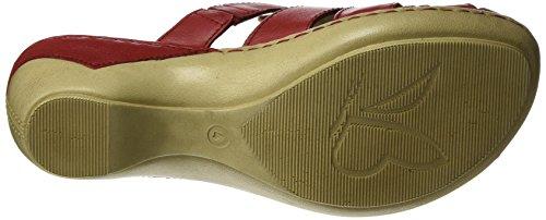 Caprice Damen 27300 Offene Sandalen mit Keilabsatz Rot (RED NAPPA)