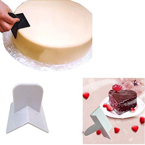 Nalati - Spatola angolare per lisciare dolci, utensile per pasticceria con 3 lati