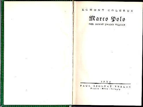 MARCO POLO. DER ROMAN ZWEIER WELTEN.