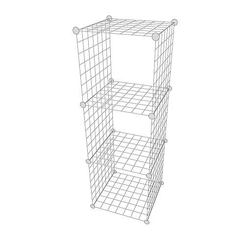 """Regalsystem """"Madrid"""" 3er-Gitterwürfel Regalwürfel Verkaufsständer Gitterboxen Warenpräsentation Ladenausstattung Moderne Verkaufswand"""