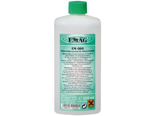 EMAG EM-080 Universalreinigungskonzentrat: Ultraschallreiniger-Konzentrat zur effektiven Reinigung von Gold- und Silberschmuck sowie Brillen, 500 ml
