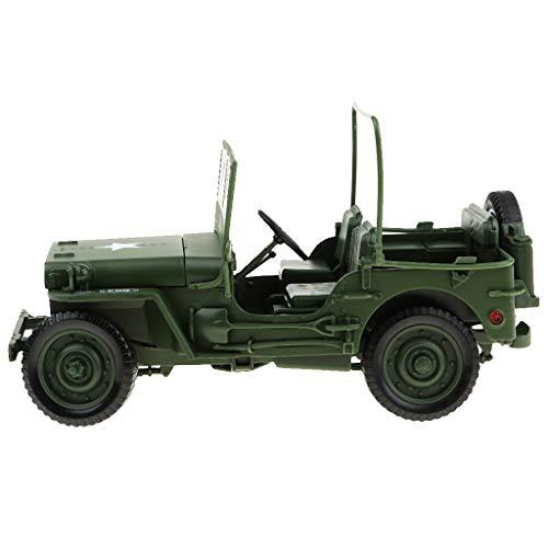 Fenteer 1/18 Maßstab Legierung Militärfahrzeug Militär Auto LKW Truck Spielzeug Geschenke