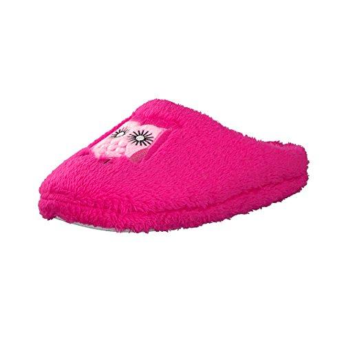 Brandsseller Trendige Hausschuhe Pantoffeln mit Eulen-Motiv für Damen - Farbe: Pink - Größe: 39/40