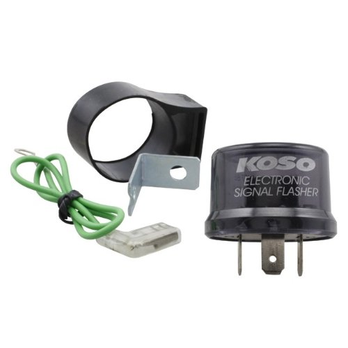 Blinker Relais/Blinkerrelais KOSO Digital, 12V, Stecker mit 3 Pins, inkl. Adapter auf 2 Pins, max. 15A, Relai - Digital-relais