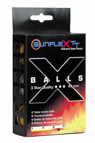 sunflex sport 6 Tischtennis-Bälle 3-STERN