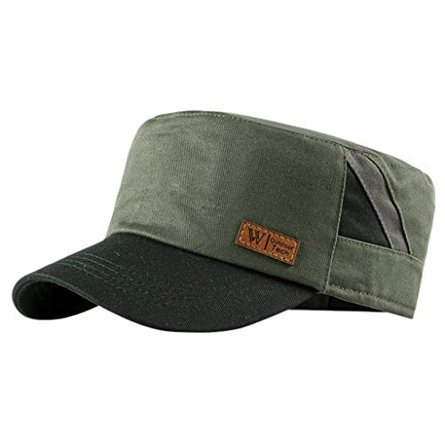 LSAltd Feste Krempe Flat Top Cadet Caps verstellbare Korps Vintage Flat Top Hüte -