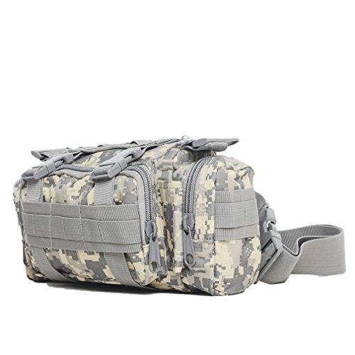 Distribuzione Borsa marsupio 3P tattico militare Utility Pouch per Outdoor Trekking Crossbody Borsa a tracolla zaino, Black ACU