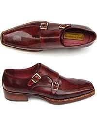 Paul Parkman - Zapatos de cordones para hombre Rojo granate
