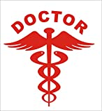 #7: i see 360 Reflective RED Doctor Decal 2nos / Sticker for any Car
