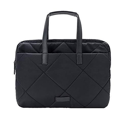 Casual Laptop Hülle Aktentasche, Rainproof Fashion Multi-Funktions-Laptop Messenger Bag, Laptop-Umhängetasche, Ultrabook, Netbook - Schwarz (Größe : XS)