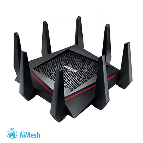 Asus RT-AC5300 Gaming Router (AiMesh, WiFi 5 AC5300, Gaming Engine, 4x Gigabit LAN Link Aggregation, 1.4 GHz Dual-Core CPU, Alexa und IFTTT und App Steuerung, AiProtection, Multifunktion USB 3.0)