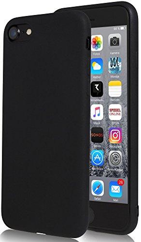 Movoja iPhone 6 Hülle Case | Schwarz matt | Bekannte Passform | Schutzhülle Matt iPhone6 Cover Apple iPhone 6 matt Schwarz