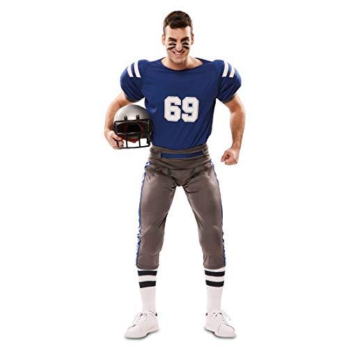 NET TOYS American Football Kostüm für Erwachsene - M/L (48 - 54) - Sportliches Männer-Outfit Rugby Sportler Footballer - Genau richtig für Karneval & Mottoparty
