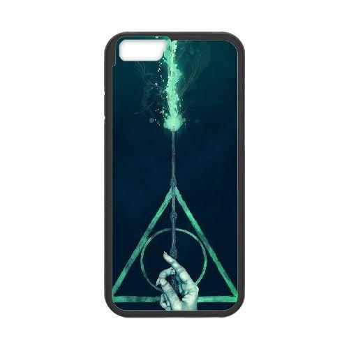 Deathly Hallows coque iPhone 6 Plus 5.5 Inch Housse téléphone Noir de couverture de cas coque EBDXJKNBO11282