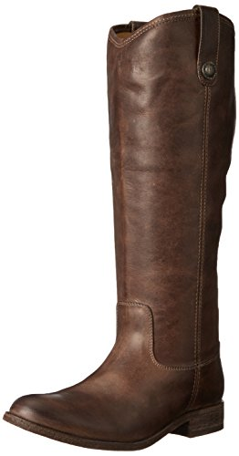 FRYE Women's Melissa Button-WAPU Riding Boot, Slate Extended, 6.5 M - Boot Melissa Frye Button