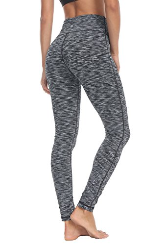 Damen Power Flex Yoga Hosen Training Laufende Leggings Farbe Space Dye Grau Größe XS